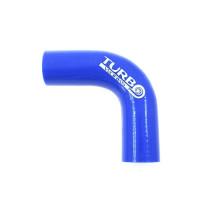 Szilikon könyök TurboWorks Kék 90 fok 35mm